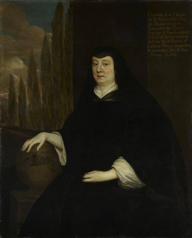 Charlotte Stanley (née de La Trémoille), Countess of Derby, after Sir Peter Lely, based on a work of 1657 - NPG 4296 - © National Portrait Gallery, London