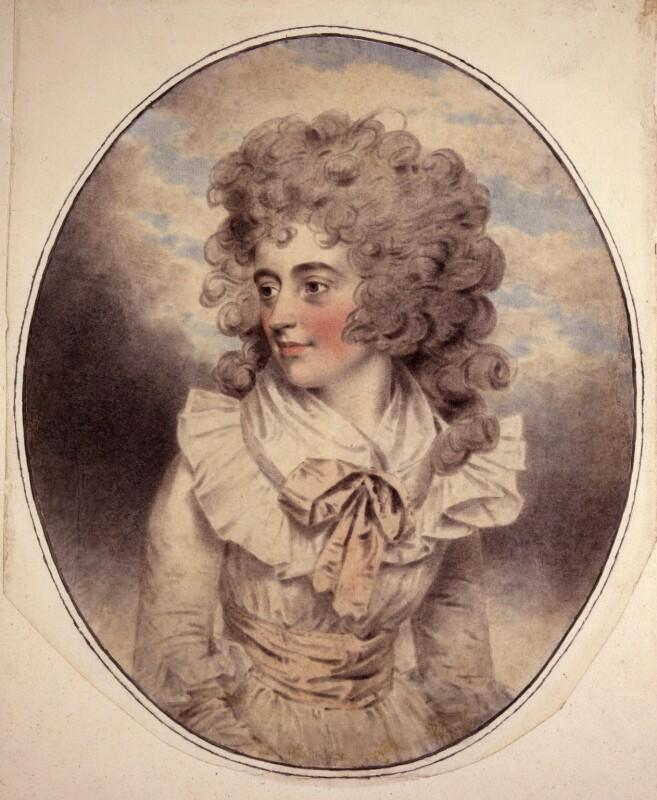 Elizabeth (née Farren), Countess of Derby, by John Downman, 1787 -NPG 2652 - © National Portrait Gallery, London