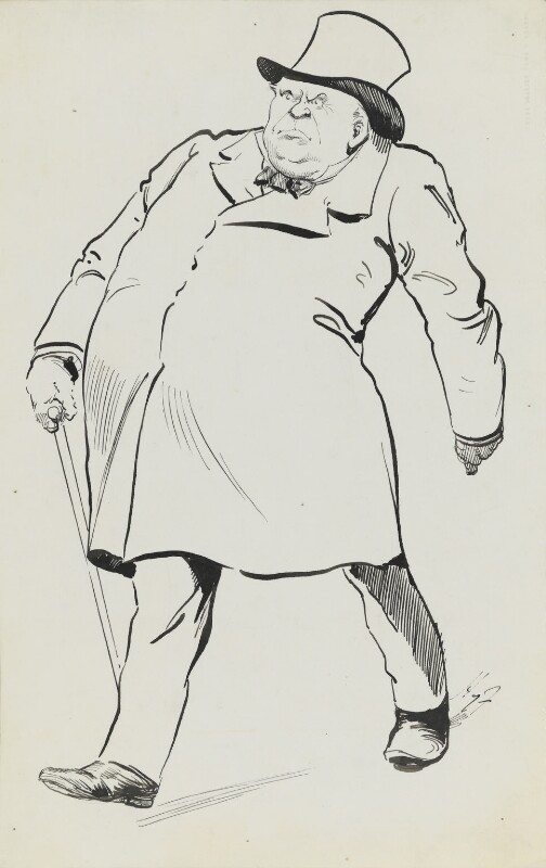Edward Henry Stanley, 15th Earl of Derby, by Harry Furniss, 1880s-1900s - NPG 3356 - © National Portrait Gallery, London