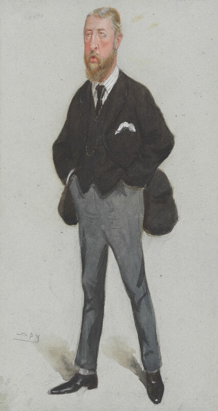 Spencer Compton Cavendish, 8th Duke of Devonshire, by Sir Leslie Ward, published in Vanity Fair 21 July 1888 - NPG 3191 - © National Portrait Gallery, London