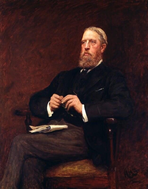 Spencer Compton Cavendish, 8th Duke of Devonshire, by Sir Hubert von Herkomer, 1897 - NPG 1545 - © National Portrait Gallery, London