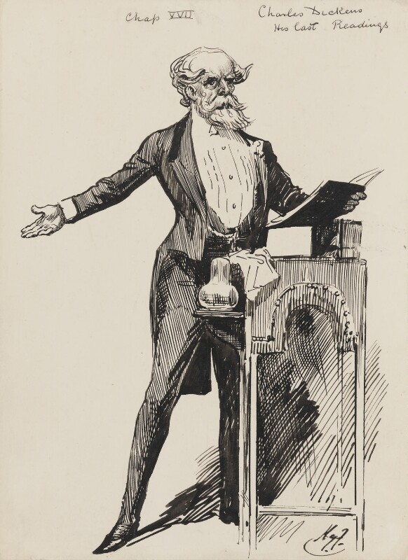 Charles Dickens, by Harry Furniss, circa 1924 -NPG 3445 - © National Portrait Gallery, London
