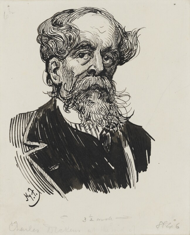 Charles Dickens, by Harry Furniss, 1880s-1900s - NPG 3446 - © National Portrait Gallery, London