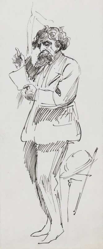 Charles Dickens, by Harry Furniss, circa 1924 - NPG 3564 - © National Portrait Gallery, London