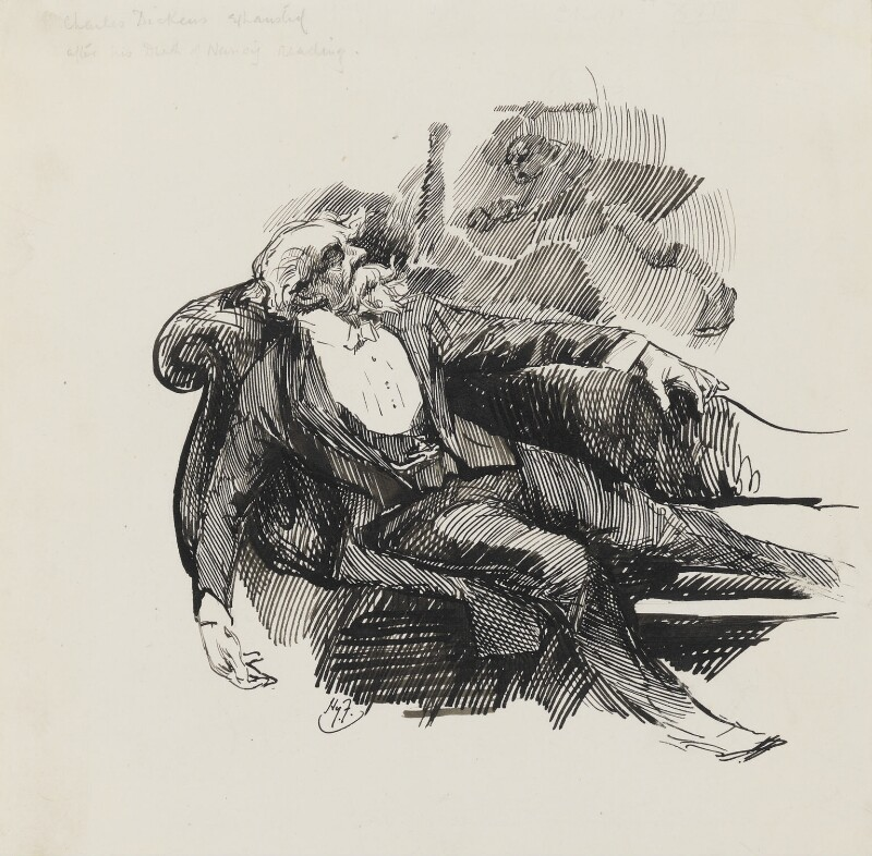 Charles Dickens, by Harry Furniss, circa 1880-1910 -NPG 3566 - © National Portrait Gallery, London