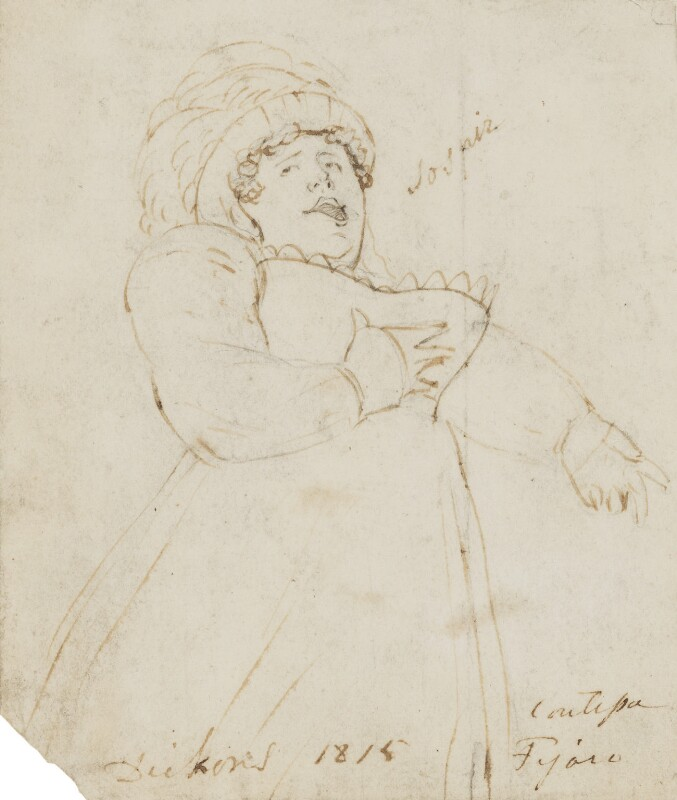 Maria Dickons (née Poole), by Alfred Edward Chalon, 1815 -NPG 1962(c) - © National Portrait Gallery, London