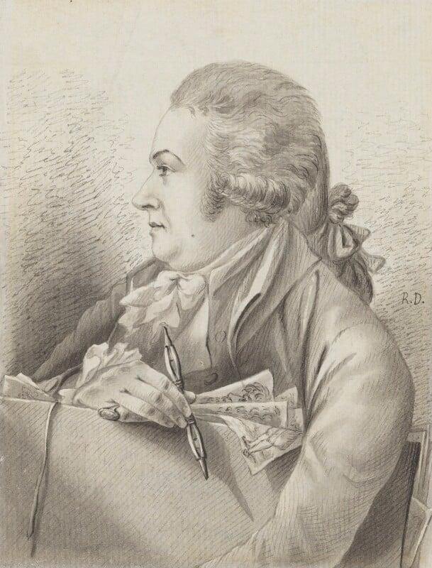 Robert Dighton, by Robert Dighton, circa 1787 - NPG 2815 - © National Portrait Gallery, London