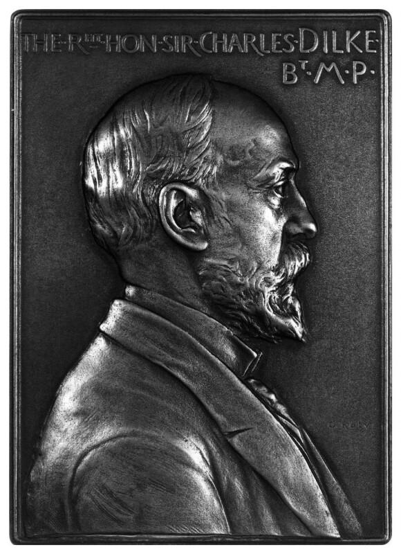 Sir Charles Wentworth Dilke, 2nd Bt, by Oscar Roty, 1900 - NPG 1883 - © National Portrait Gallery, London