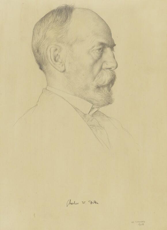 Sir Charles Wentworth Dilke, 2nd Bt, by William Strang, 1908 - NPG 3819 - © National Portrait Gallery, London