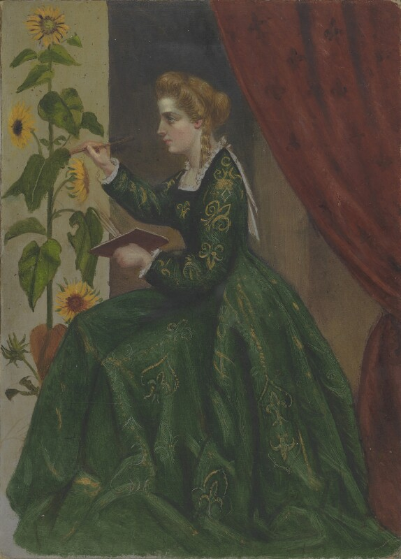 Emilia Francis (née Strong), Lady Dilke, by Pauline, Lady Trevelyan (née Jermyn), and  Laura Capel Lofft (later Lady Trevelyan), circa 1864 - NPG 1828a - © National Portrait Gallery, London