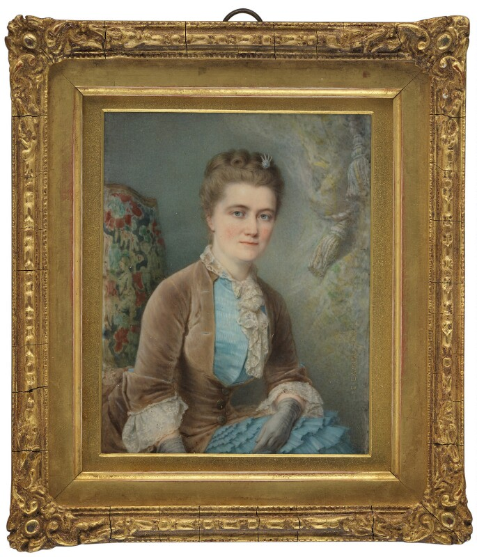 Emilia Francis (née Strong), Lady Dilke, by Charles Camino, 1882 -NPG 1828 - © National Portrait Gallery, London