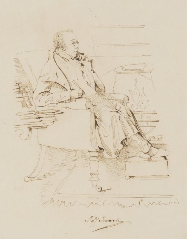 Isaac D'Israeli, after Daniel Maclise, circa 1832 - NPG 3092 - © National Portrait Gallery, London