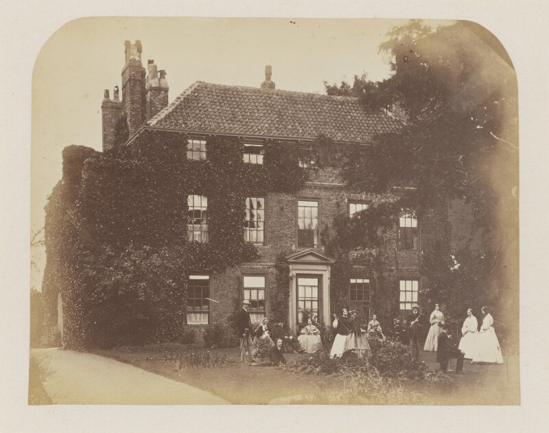 Lewis Carroll and his family at Croft Rectory, probably by Robert Wilfred Skeffington Lutwidge, circa 1858-1862 - NPG P32 - © National Portrait Gallery, London