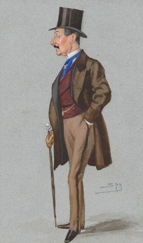 Sir Charles Hastings Doyle, by Sir Leslie Ward, published in Vanity Fair 23 March 1878 - NPG 2709 - © National Portrait Gallery, London