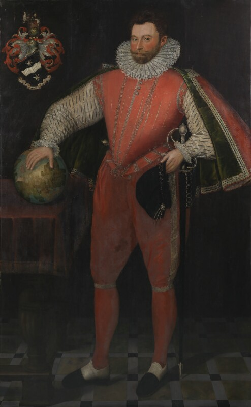Sir Francis Drake, by Unknown artist, circa 1581 - NPG 4032 - © National Portrait Gallery, London