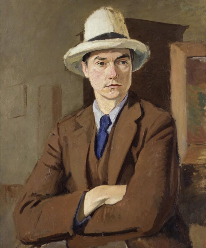 John Drinkwater, by William Rothenstein, circa 1918 - NPG 6689 - © National Portrait Gallery, London
