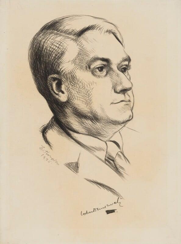John Drinkwater, by Joyce Wansay Thompson, 1935 - NPG 4094 - © National Portrait Gallery, London