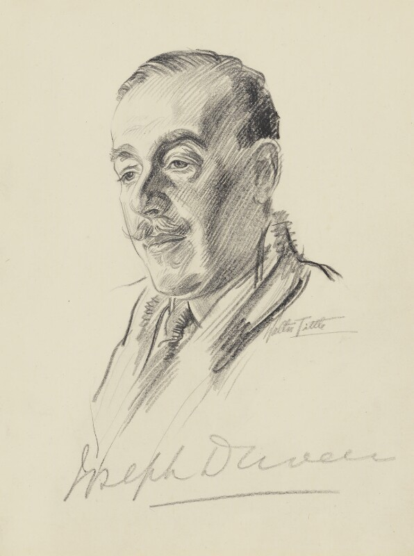 Joseph Duveen, Baron Duveen, by Walter Tittle, 1920s? - NPG 2484 - © National Portrait Gallery, London