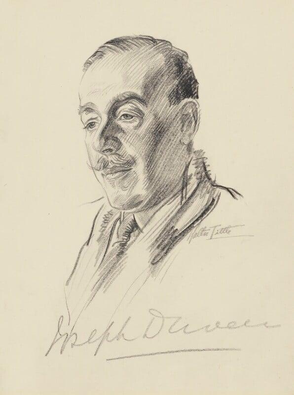 Joseph Duveen, Baron Duveen, by Walter Tittle, 1920s? - NPG 2484 - © National Portrait Gallery, London