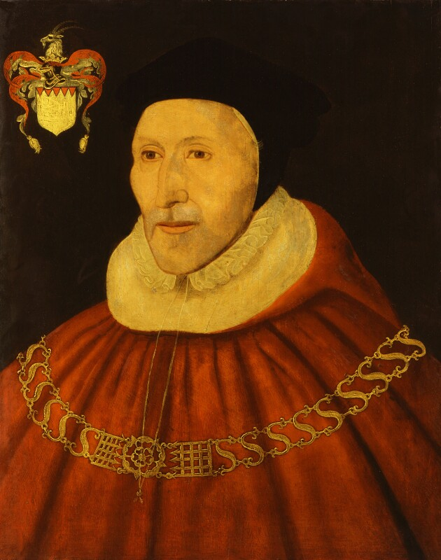 Sir James Dyer, after Unknown artist, late 16th century, based on a work of 1575 - NPG 1294 - © National Portrait Gallery, London