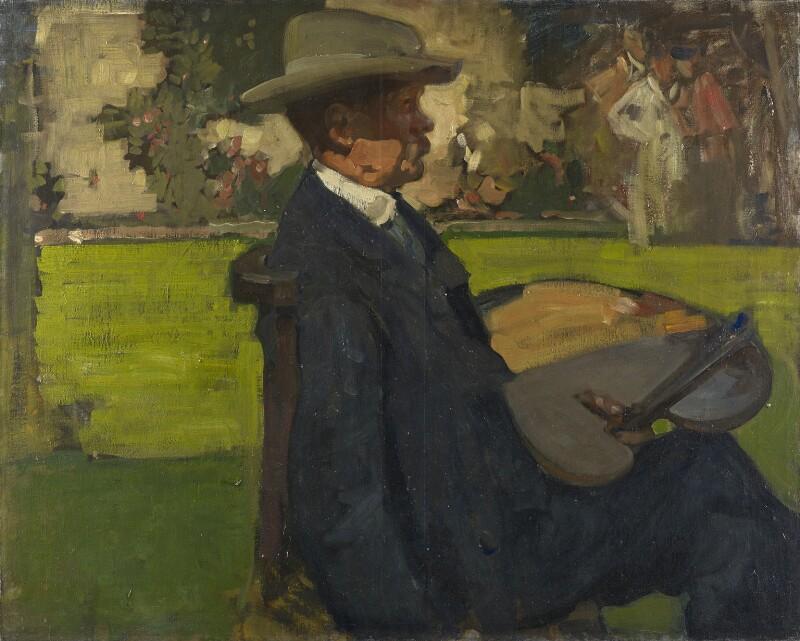 Sir Alfred Edward East, by Sir Frank Brangwyn, circa 1900 - NPG 4826 - © E.H. Glaisyer / National Portrait Gallery, London