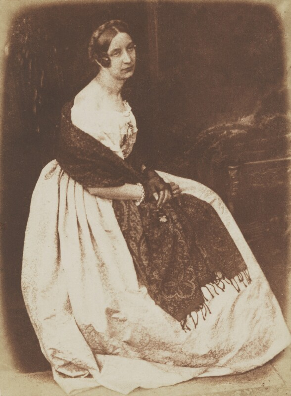 Elizabeth (née Rigby), Lady Eastlake, by David Octavius Hill, and  Robert Adamson, 1843-1848 - NPG P6(130) - © National Portrait Gallery, London