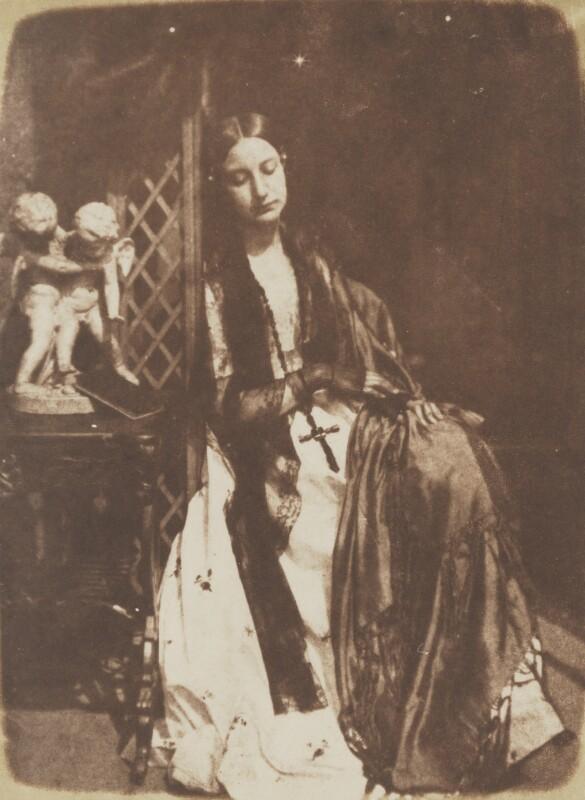 Elizabeth (née Rigby), Lady Eastlake, by David Octavius Hill, and  Robert Adamson, 1843-1848 - NPG P6(163) - © National Portrait Gallery, London