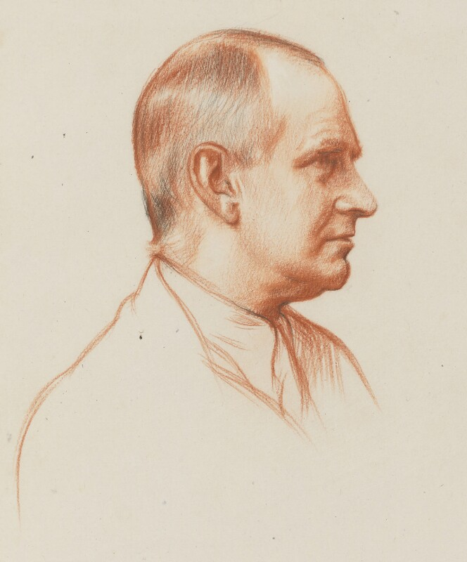 Sir Arthur Eddington, by William Rothenstein, 1928-1929 - NPG 4646 - © National Portrait Gallery, London