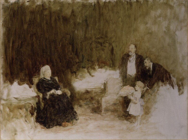 Four Generations (Queen Victoria, King Edward VII, Prince Edward, Duke of Windsor (King Edward VIII) and King George V), by Sir William Quiller Orchardson, circa 1897 -NPG 4536 - © National Portrait Gallery, London