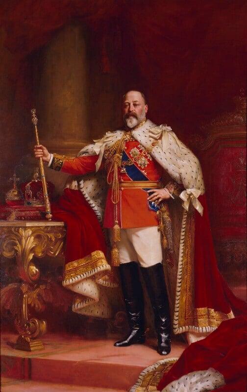 King Edward VII, replica by Luke Fildes, 1902-1912, based on a work of 1902 - NPG 1691 - © National Portrait Gallery, London