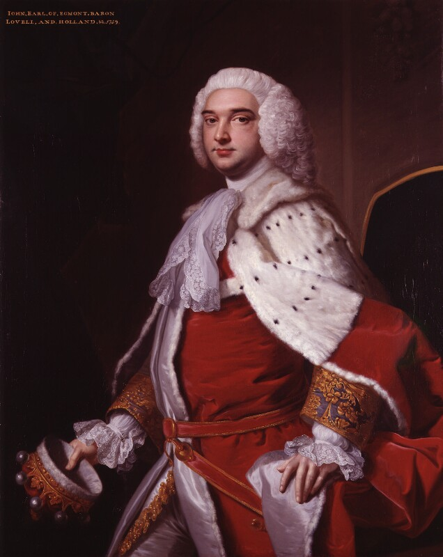 John Perceval, 2nd Earl of Egmont, by Thomas Hudson, circa 1758 - NPG 2481 - © National Portrait Gallery, London