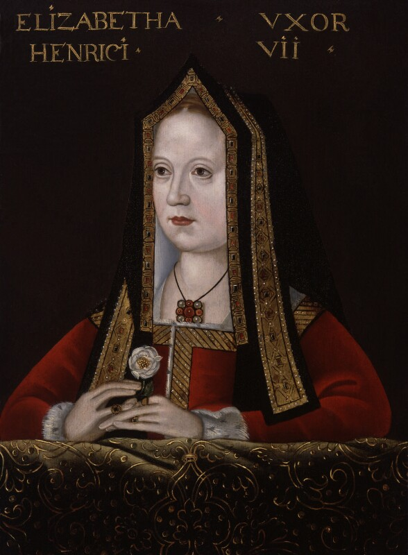 Elizabeth of York, by Unknown artist, late 16th century, based on a work of circa 1500 - NPG 311 - © National Portrait Gallery, London