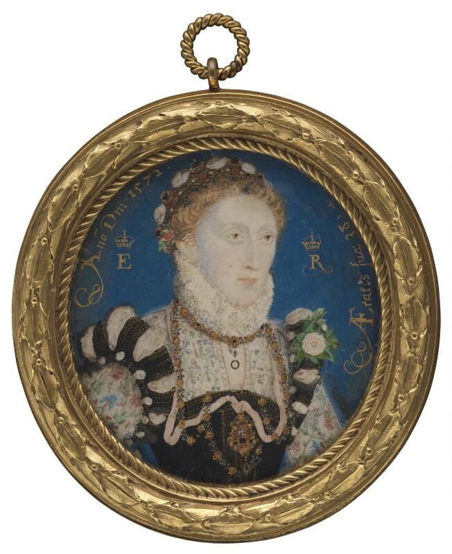 Queen Elizabeth I, by Nicholas Hilliard, 1572 - NPG 108 - © National Portrait Gallery, London