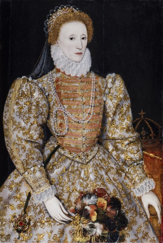 Queen Elizabeth I, by Unknown continental artist, circa 1575 - NPG 2082 - © National Portrait Gallery, London
