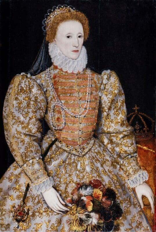Queen Elizabeth I, by Unknown continental artist, circa 1575 - NPG 2082 - © National Portrait Gallery, London