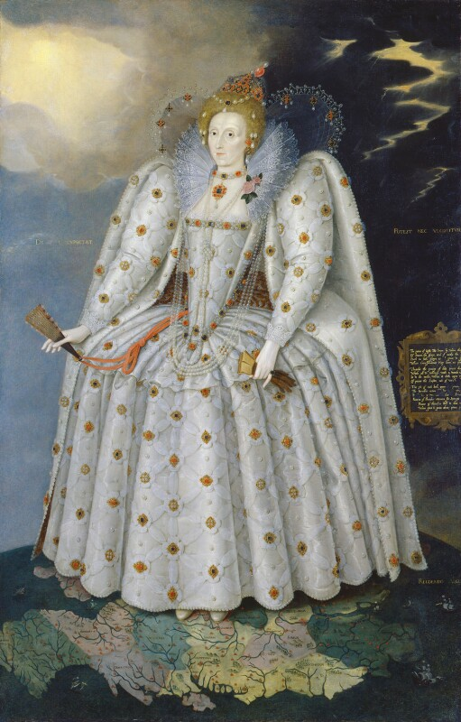 First official Portrait of Majesty Queen Elizabeth England The Empire 5135