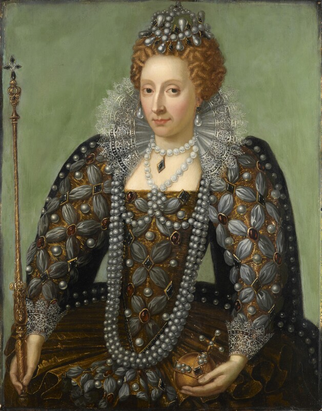 Queen Elizabeth I, by Unknown artist, early 17th century with 18th century overpainting - NPG 542 - © National Portrait Gallery, London