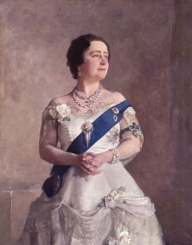 Queen Elizabeth, the Queen Mother, by Sir Gerald Kelly, circa 1938 - NPG 4962 - © reserved; collection National Portrait Gallery, London