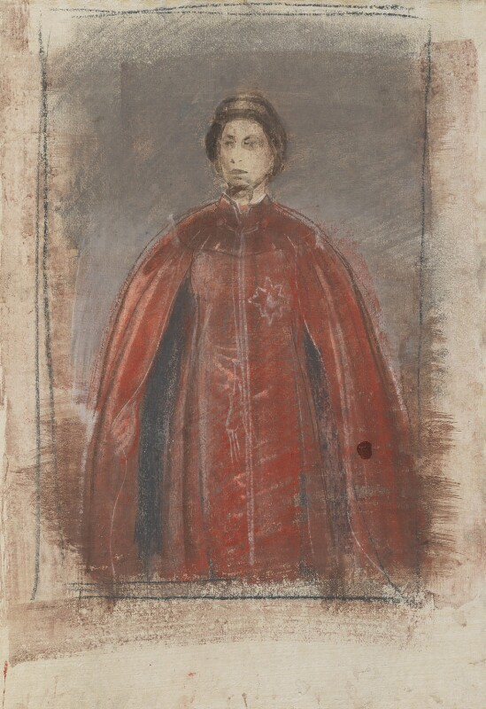 Queen Elizabeth II, by Pietro Annigoni, 1969 - NPG 4830 - © estate of Pietro Annigoni / National Portrait Gallery, London