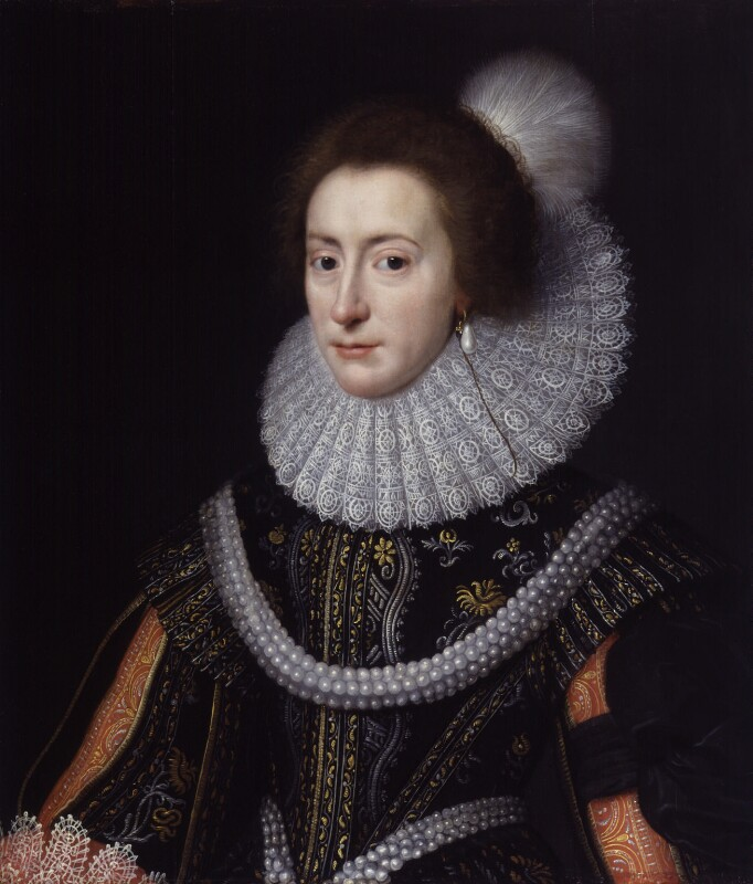 Princess Elizabeth, Queen of Bohemia and Electress Palatine, studio of Michiel Jansz. van Miereveldt, circa 1623, based on a work of circa 1623 - NPG 71 - © National Portrait Gallery, London