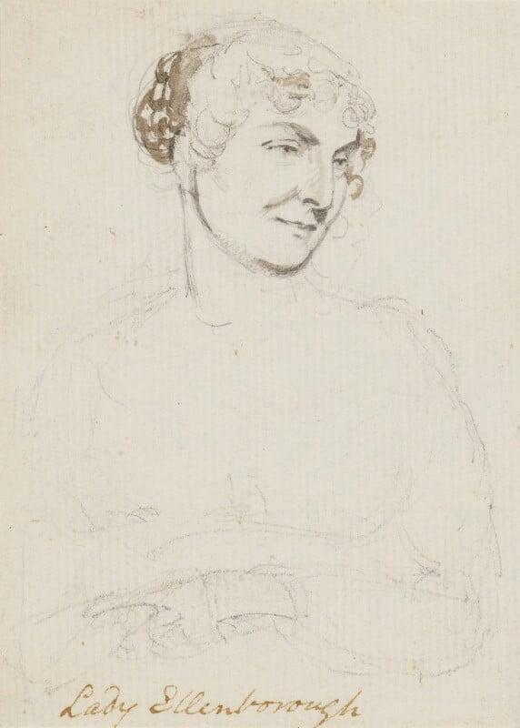 Anne Law, Lady Ellenborough, by Sir George Hayter, 1810s -NPG 883(9) - © National Portrait Gallery, London