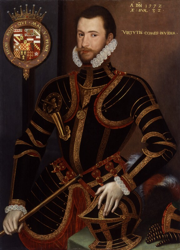 Walter Devereux, 1st Earl of Essex, by Unknown artist, circa 1575, based on a work of 1572 - NPG 4984 - © National Portrait Gallery, London