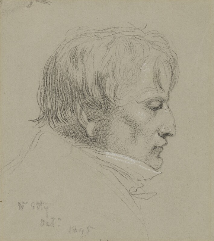William Etty, by Charles Hutton Lear, 1845 -NPG 1456(6) - © National Portrait Gallery, London
