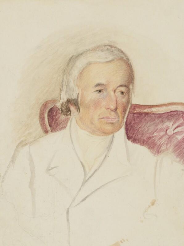 Robert Evans, by Caroline Bray; Unknown artist, 1841 -NPG 1232a - © National Portrait Gallery, London
