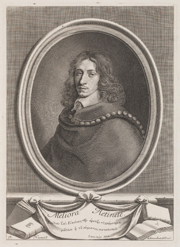 John Evelyn, by Robert Nanteuil, 1650 - NPG 3258 - © National Portrait Gallery, London