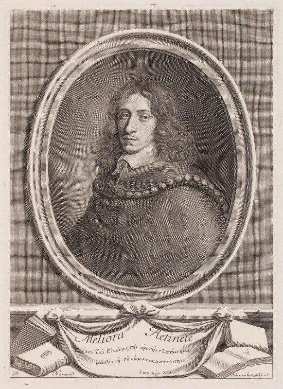John Evelyn, by Robert Nanteuil, 1650 - NPG 3258 - © National Portrait Gallery, London