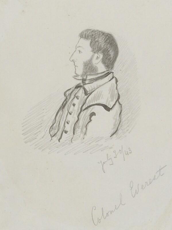 Sir George Everest, by William Tayler, 1843 -NPG 2553 - © National Portrait Gallery, London