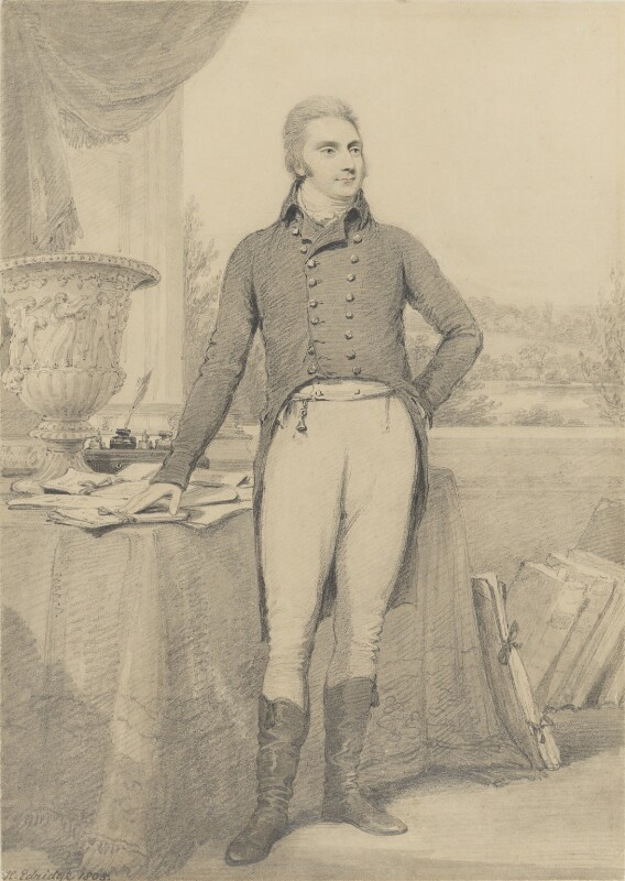 Charles Long, 1st Baron Farnborough, by Henry Edridge, 1805 - NPG 4046 - © National Portrait Gallery, London