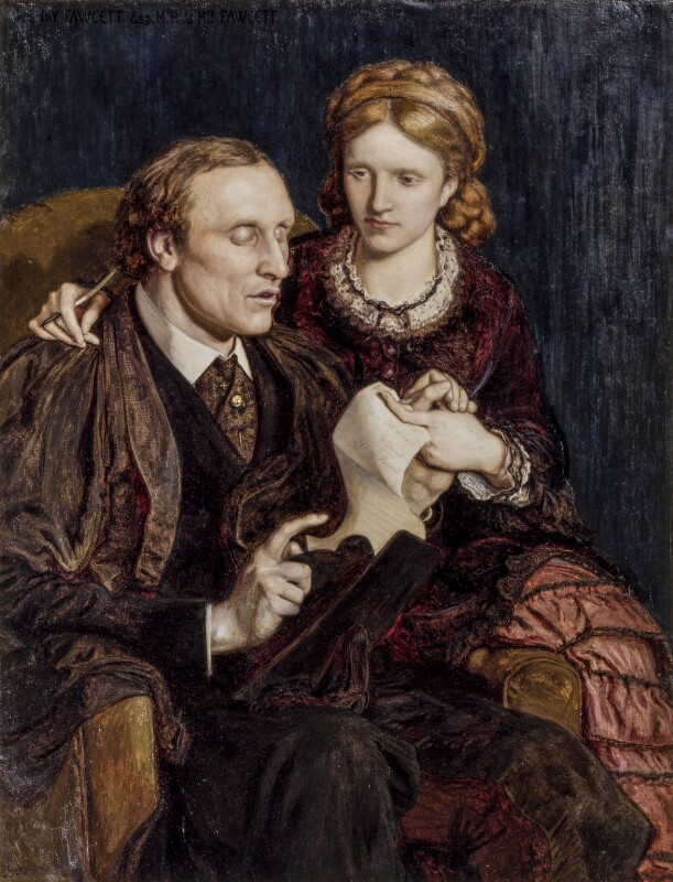 Henry Fawcett; Dame Millicent Fawcett, by Ford Madox Brown, 1872 - NPG 1603 - © National Portrait Gallery, London