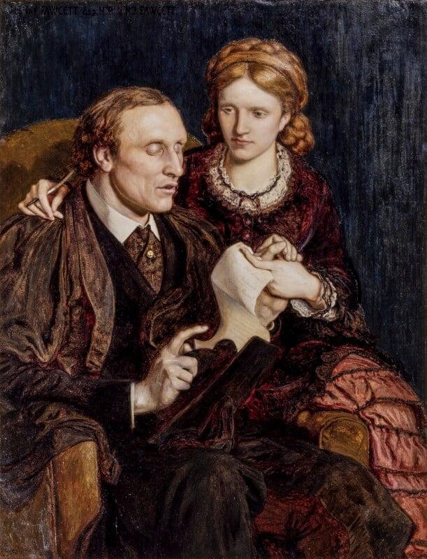 Henry Fawcett; Dame Millicent Garrett Fawcett (née Garrett), by Ford Madox Brown, 1872 - NPG 1603 - © National Portrait Gallery, London